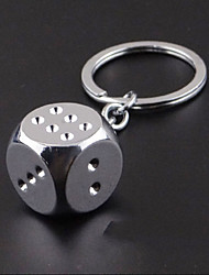 Lucky Dice Men's Personalized Key Fob Keychain