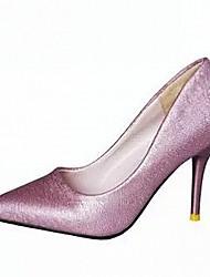 Women's Shoes Glitter / Stiletto Heel Heels / Pointed Toe Heels Dress / Casual Black / Purple / White