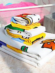 4-piece 100% Cotton Cartoons Print Towel Set