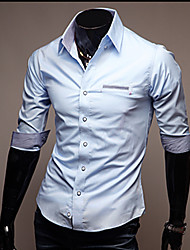 Men's Fashion Slim Lapels Short Sleeved Shirt