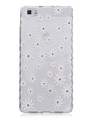 Back Cover Transparent Body Flower TPU SoftHuawei Huawei P8 / Huawei P8 Lite