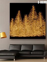E-HOME® Stretched LED Canvas Print Art Christmas Tree Christmas Series LED Flashing Optical Fiber Print One Pcs