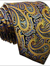 U13    Mens Neckties Yellow Multicolor Paisley New Fashion Wedding Dress For Men