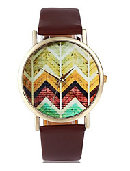 Women Watches, Chevron on Wood Watch,Vintage Style Leather Watch, Women Watches, Unisex,Boyfriend Watch