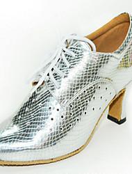 Женская обувь - Искусственная кожа - Доступны на заказ ( Черный / Серебряный ) - Латино