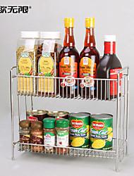 WeiYuWuXian® Multifunction 304 Stainless Steel Kitchen Double Layers Seasoner Shelf