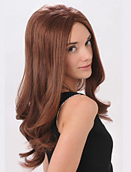 Fashional Womens Super Model Style Sexy Lolita Daily Curly Wavy Nightclub Party Hair Full Wigs Long Brown Color Sale.