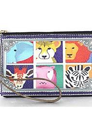 Personality animal print leather hand bag/ phone bag /change purse