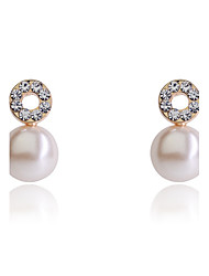 Earring Stud Earrings Jewelry Women Party / Daily / Casual Pearl / Crystal / Silver Plated / Gold Plated 2pcs