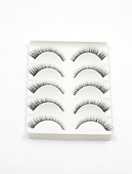 New 5 Pairs Super Natural Black Long Thick False Eyelashes Eyelash Eye Lashes for Eye Extensions