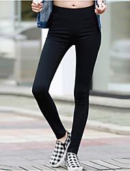 Pantaloni Da donna Skinny Sexy Nylon Anelastico