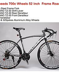 """21speeds 700c wegfiets Visp ™ 52 """"fietsen 40mm breedte wielen racefiets"""