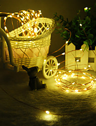 King Ro Solar 39ft 100LED Christmas Tree Decor Light Outdoor Waterproof Copper Wire Light