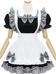 Black and White Polyester Maid Costume Type2