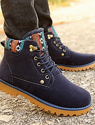 Men's Shoes Casual Boots Black / Blue / Yellow