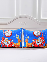 One Pair Christmas Pillow Case Stardard Size Ideal Gift for Christmas