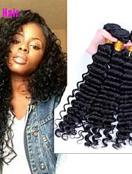 Feixes tecer cabelo virgem virgem Cara cabelo produtos de cabelo 3pcs promoções lote peruano onda profunda encaracolado peruano grau 7a