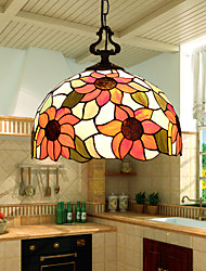 E27 220V 30*20CM 5-10㎡European Rural Creative Arts Stained Glass Chandelier Restoring Ancient Ways Lamp Led Light