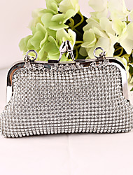Women Metal / Satin Formal / Event/Party / Wedding / Office & Career Evening Bag Gold / Silver / Black