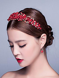 Chinese Red Gorgeous Rhinestones Wedding/Party Headpieces/Tiaras with Imitation Pearls
