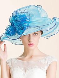 Mujer Organza Celada-Boda Ocasión especial Casual Al Aire Libre Sombreros 1 Pieza