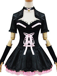 Black and White Polyester Maid Costume Type14