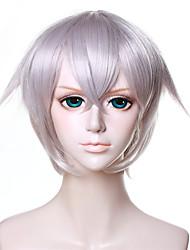 12inch Short Touken Ranbu Online Hotarumaru Wig Cosplay Silvery Gray Synthetic Anime Cosplay Hair Wig QY-043
