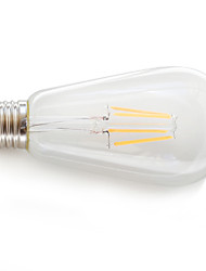 1pcs KWB levou ST64 e26 / e27 4 * cob 4W 360lm 2200K filamento da lâmpada (AC 85-265V)