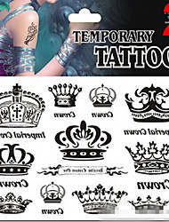 Airbrush Tattoos Non Toxic Glitter Waterproof Multicolored Glitter 1 Package 17*16CM Crown Lips(Color Randomly)
