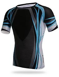 Running Tops Men's Short Sleeve Breathable / Compression / Sweat-wicking Elastane / Terylene / LYCRA® Cycling/Bike Sports Sports Wear