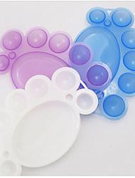 2Pcs Nail Painting Tool Palette Paint Palette Color Plate Random Delivery