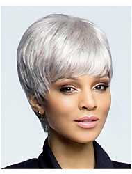 Short Hair European Weave Light White Color Hair Wig