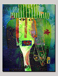 Hand-Painted Mysterious Facial Expressions Abstract Modern Oil Painting On Canvas With Frame Ready to Hang