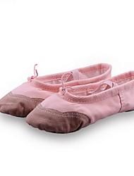 Non Customizable Women's / Kids' Dance Shoes Fabric Fabric Ballet Flats Flat Heel Practice / Outdoor / PerformanceBlack / Yellow / Pink /