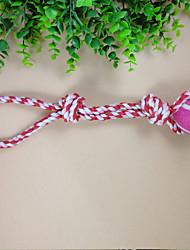 Собаки Игрушки для животных Жевательные игрушки / Интерактивный Веревка / Мячи для тенниса Розоватый Текстиль