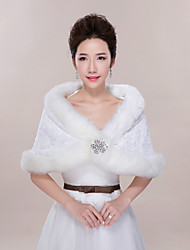 Wedding / Party/Evening Faux Fur Shrugs Sleeveless Wedding  Wraps