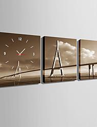 E-HOME® Water Bridge Clock in Canvas 3pcs