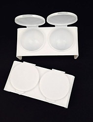 2 Pcs Plastic Crystal Cup Color Plate White