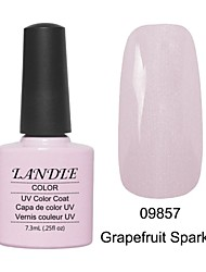 LUNDLE 09857 Soak Off UV Nail Gel Color Gel LED Manicure Gel Grapefruit Sparkle