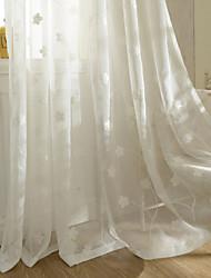 dos paneles de tipo europa cortinas de gasa bordado dormitorio estilo rural cortinas oscuras