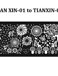 6pcs New Stylish Nail Art Stamping Plates DIY Polish Printing Stencil Manicure Nail Mold Template (Tian Xin 01-06)