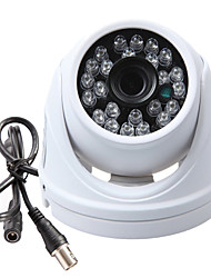 1/3 SONY CCD CMOS 1200TVL 960H 24LEDs IR-CUT CCTV Armour Dome Security Camera