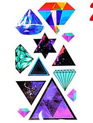 Temporary Tattoos Stickers Non Toxic Glitter Waterproof Multicolored Glitter 1 Package 17*13CM Diamond
