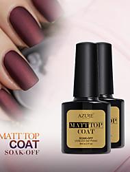 Azure Beauty Soak Off Led UV Matte Top Coat Gel Polish Nail Art Tips Dull Finish Top Coat Gel(8ml, Matt Top)