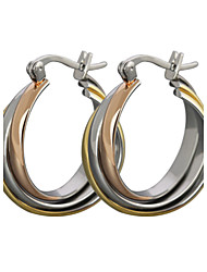 Stud Earrings Hoop Earrings Titanium Steel Classic Screen Color Jewelry 2pcs