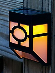 extérieure 2 a mené la lampe solaire de mur de clôture de capteur de lumière jardin lumière de la cour de chemin blanc chaud