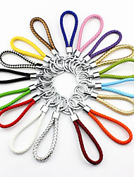 Multicolor Rainbow Leather Weave DIY Keychain(Random Color)