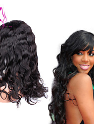 glueless peruca cheia do laço do cabelo humano corpo grande onda de preto mulher 7a virgem cabelo 120% de densidade da Malásia