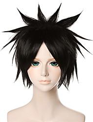12 pulgadas Gintama zuozhu pelucas negro de anime cosplay qy-077