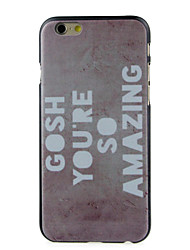 SO Amazing High Quality and Good Price Pattern  Hard Case for iPhone 6/6S